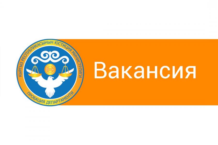 Пробация в Кыргызстане - Департамент пробации объявляет о наборе 34 сотрудников по всему Кыргызстану