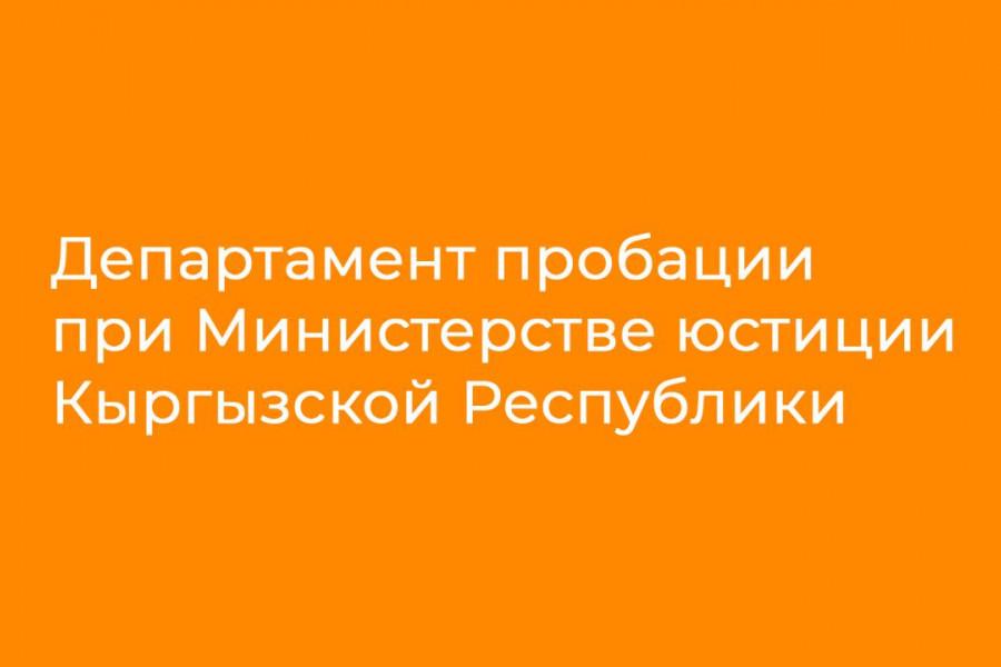 Пробация в Кыргызстане - С 1 сентября 2019 г. начнет функционировать Департамент пробации при Министерстве юстиции КР