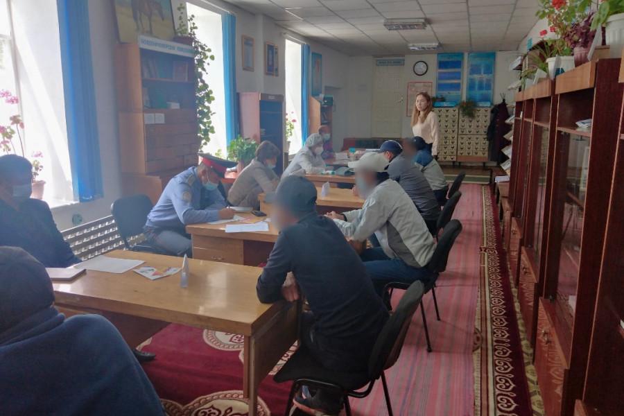 Пробация в Кыргызстане - Клиенты пробации Ат-Башинского района получили помощь